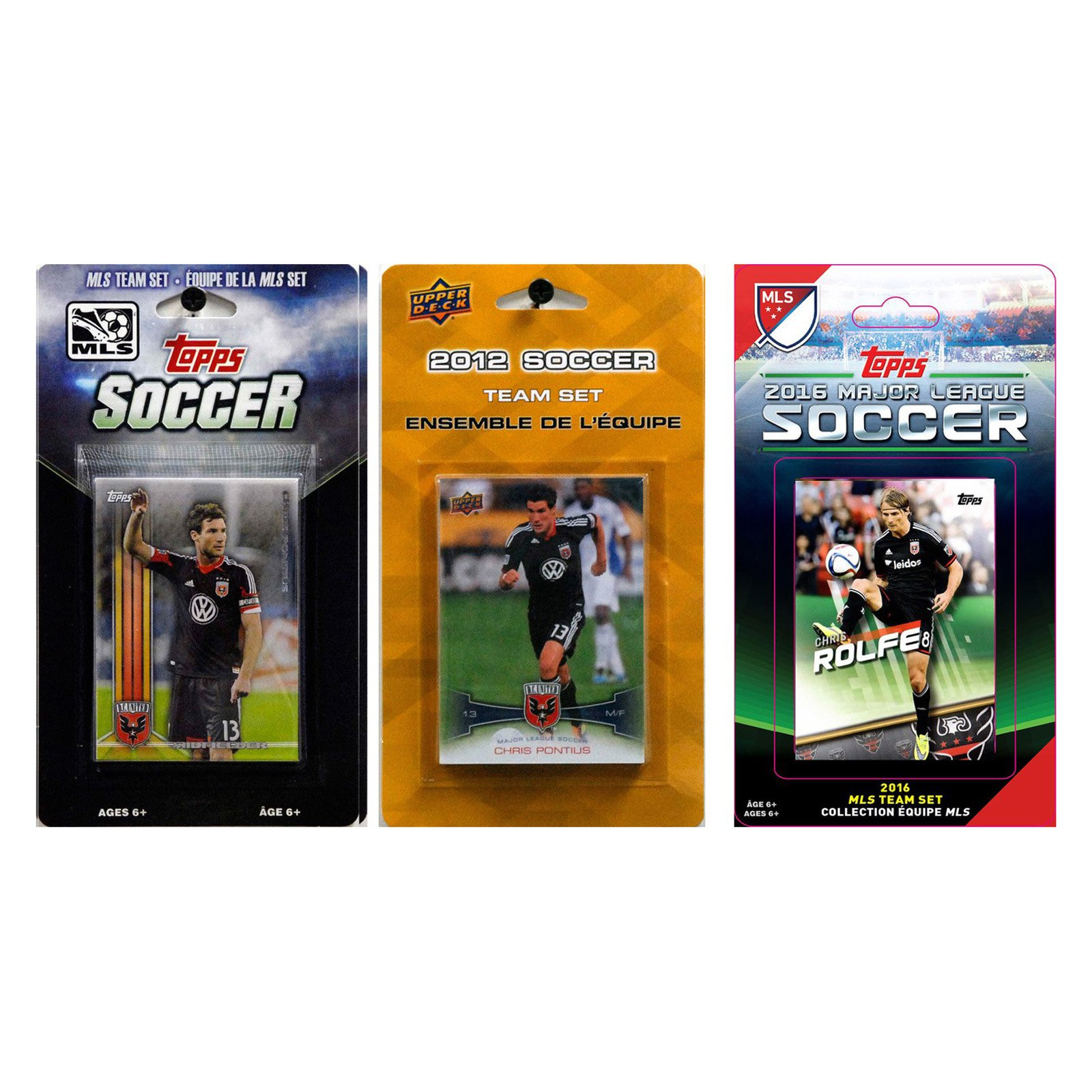 C&I Collectables MLS D.C. United 3 Different Licensed Trading Card Team Sets