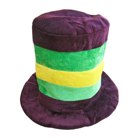 SeasonsTrading Mardi Gras Velvet Top Hat - Costume Party Accessory (Mardi Gras Costume Accessories)