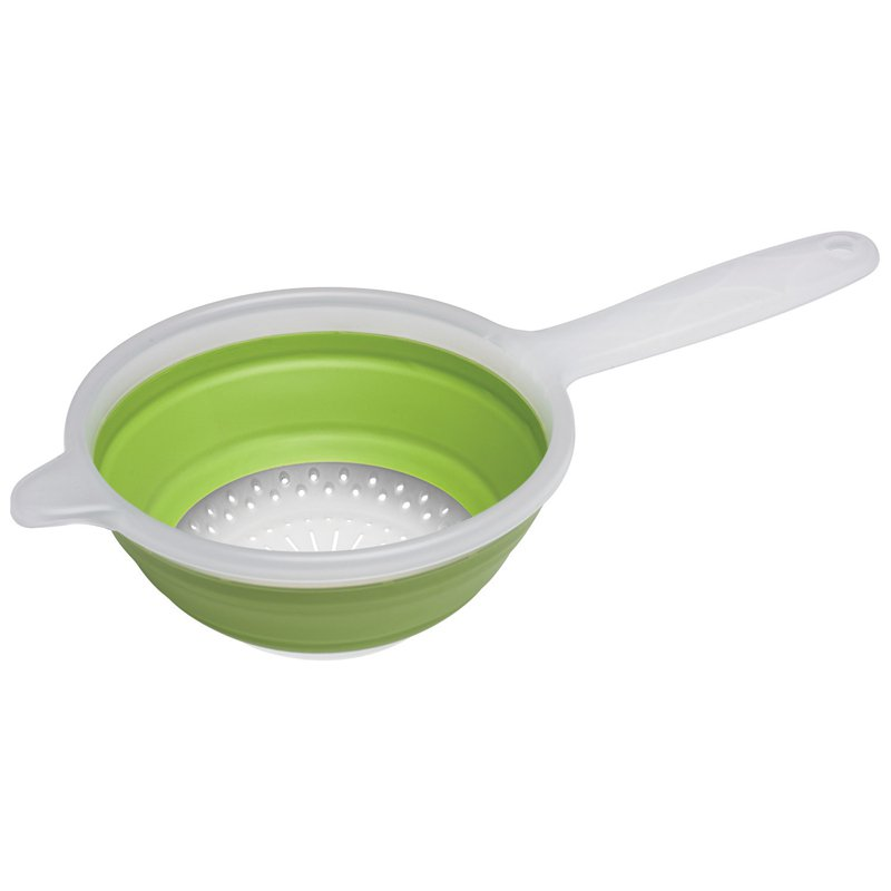 Progressive Housewares CC-12G 1.5 Quart Green Collapsible Hand Strainer by Progressive International
