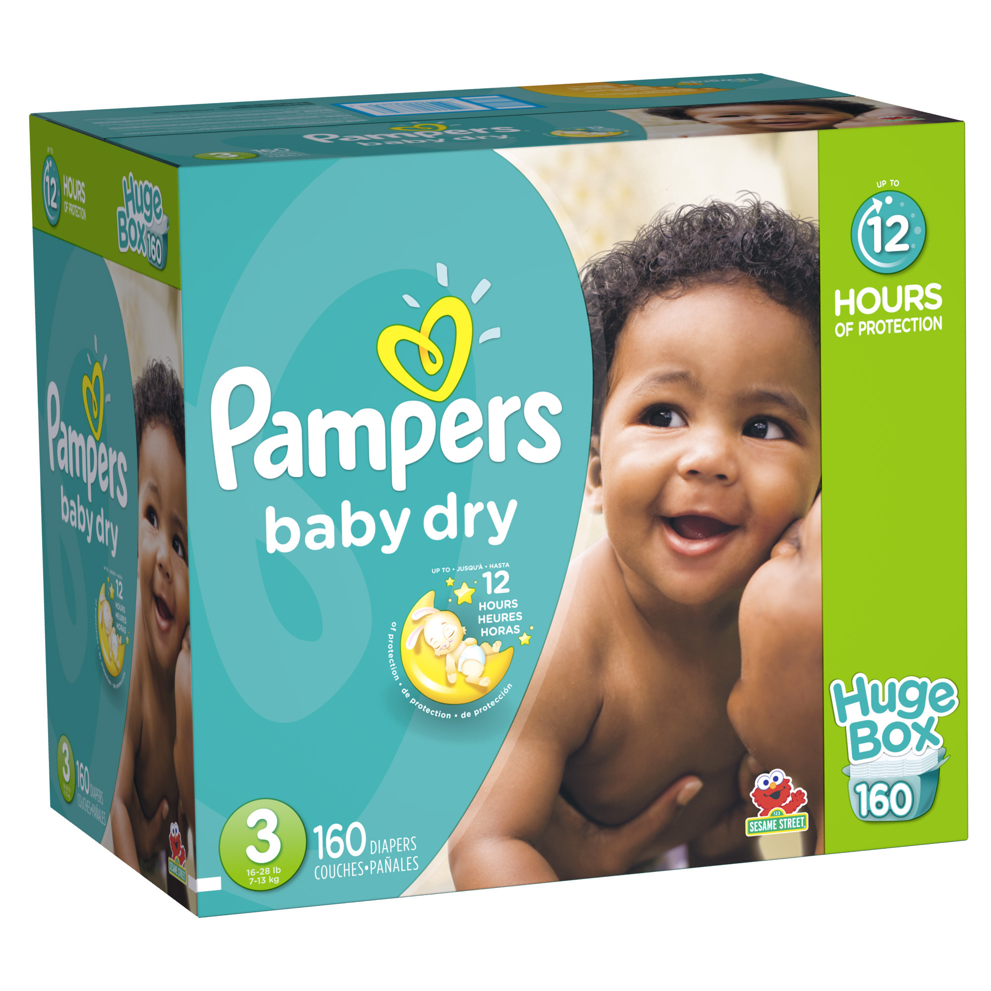 Pampers Baby Dry Diapers (Choose Size and Count)