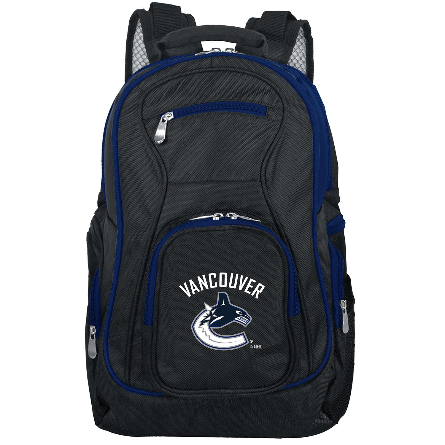 NHL Vancouver Canucks Premium Laptop Backpack with Colored Trim