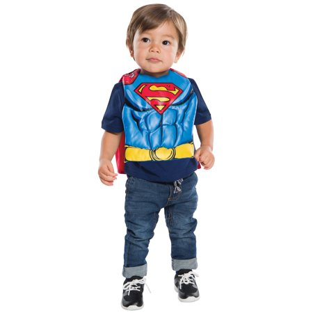 Superman Muscle Chest Shirt Costume for Kids - Superman Costume For Kids