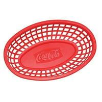 TableCraft Coca-Cola / Coke Food & Snack Red Serving Basket - Set of 4