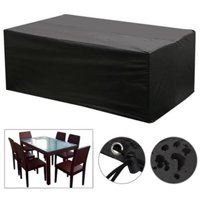 Waterproof Garden Patio Furniture Covers for Rattan Table Cube Seat Outdoor
