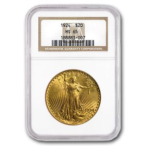 1924  20 Saint Gaudens Gold Double Eagle Ms 65 Ngc