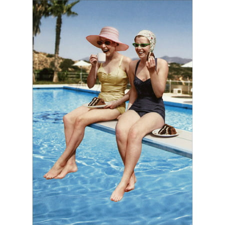 Avanti Press Ladies On Diving Board Humorous / Funny Feminine Best Friend Birthday Card for (Best Avanti Press Grandma Cards)