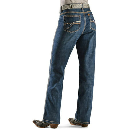 wrangler women's aura instantly slimming jean, blue legend, 12 tall - Firefly Denim
