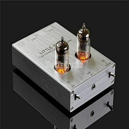 Little Bear Vacumn Tube Mini Phono Stage Riaa Mm Phonograph Preamp   Hifi Tube Pre Amplifier  Silver