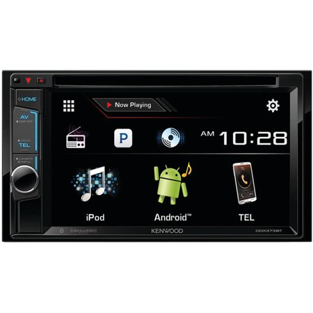 """Kenwood DDX373BT 6.2"""" Double-DIN DVD Receiver with Bluetooth, Siri Eyes-Free, Pandora Internet Radio and... by"""