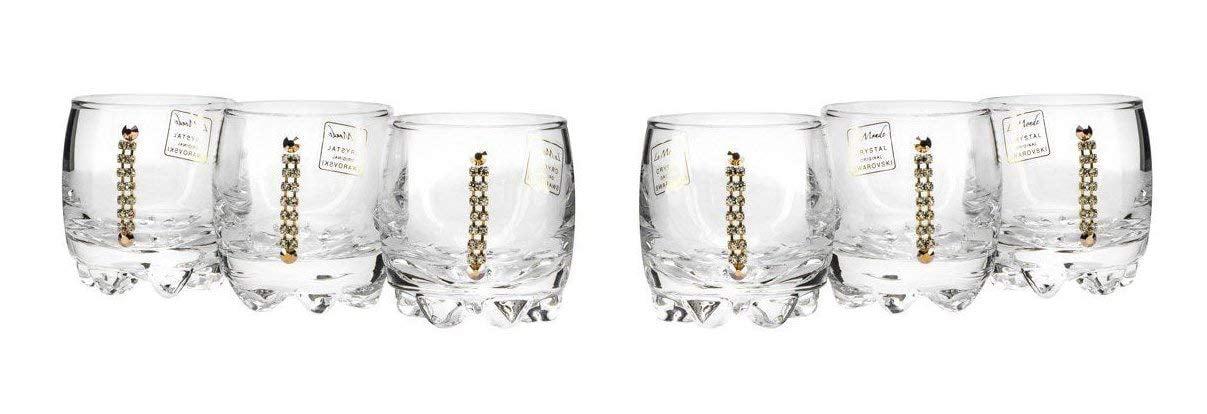 Italian Collection Crystal Cognac Glasses Set, Swarovski Crystal, Lead Free by