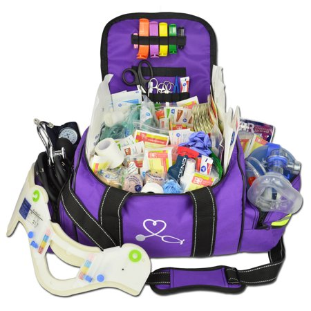 Lightning X Deluxe Stocked Large Emt First Aid Trauma Bag W Emergency Medical Supplies Fill Kit C