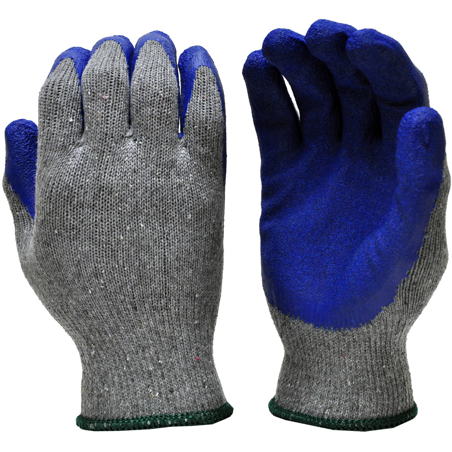 G & F 3100S-DZ Knit Work Gloves, Textured Rubber Latex Coated for Construction, 12-Pairs, Men's Small
