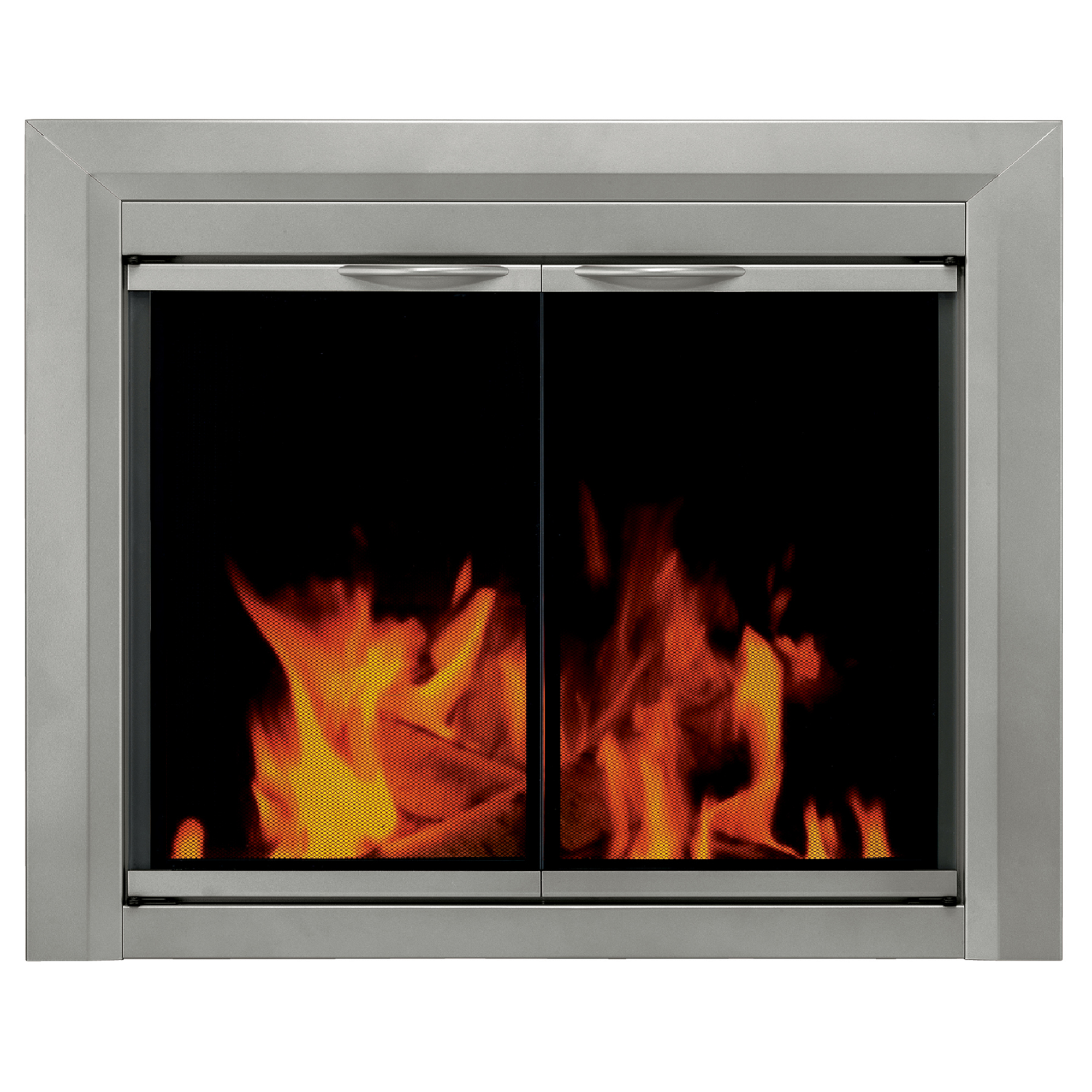 Pleasant Hearth Colby Glass Firescreen Sunlight Nickel - Large