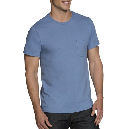46 Tee - Big Men's Dual Defense Assorted Pocket T-Shirts Extended Sizes, 4 Pack