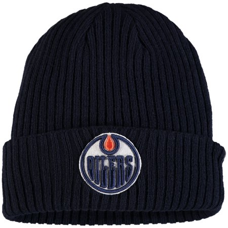 Edmonton Oilers Fanatics Branded Core Cuffed Knit Hat - Navy - OSFA
