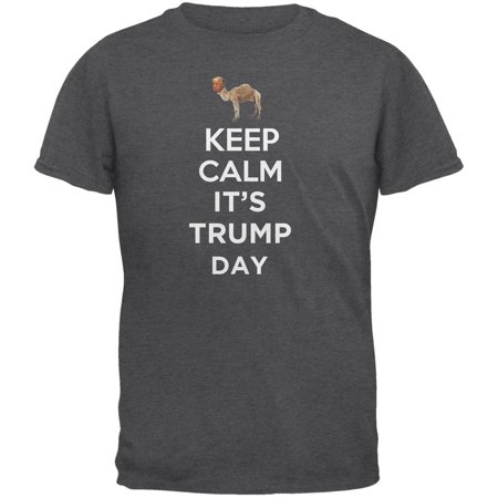 Election Keep Calm Its Donald Trump Day Shirt Dark Heather Adult T Shirt