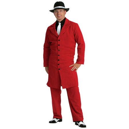 3 Piece Zoot Suit - Red Gangster Zoot Suit