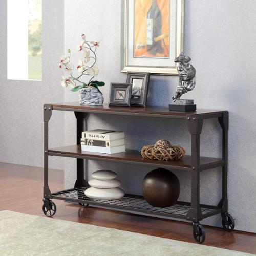 Furniture of America Karina Industrial Style Sofa Table by Overstock
