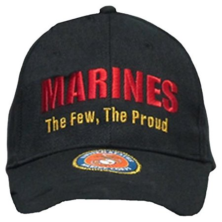 fb182a33be8fa Buy Caps and Hats U.S. Marine Corps USMC Insignia Hat Cap Black Marines US  Military Baseball Caps - Walmart.com