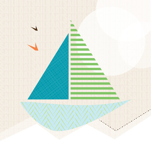 Trendy Peas Sail Boat Wall Art