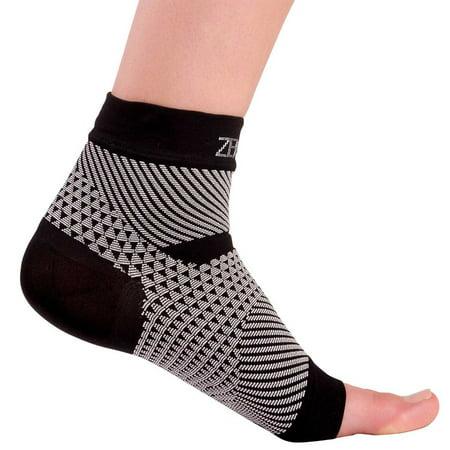 Zensah Plantar Fasciitis Ankle Sleeve  Single  Magenta  Sm