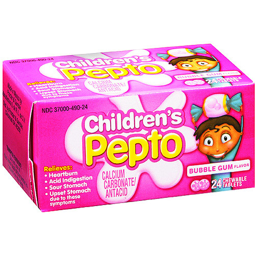 Pepto-Bismol Children's Chewable Tablets, Bubblegum, 24 ct
