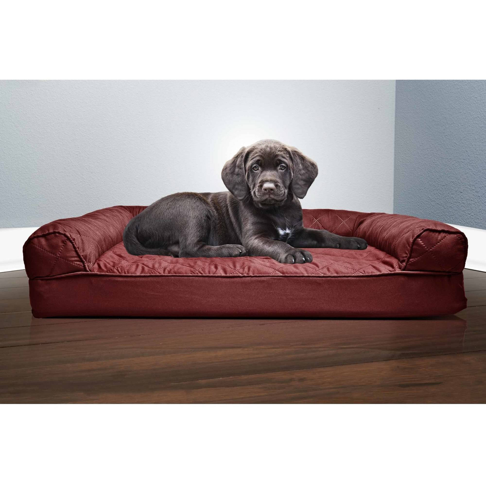 FurHaven Quilted Sofa Dog Bed Pet Bed Walmartcom