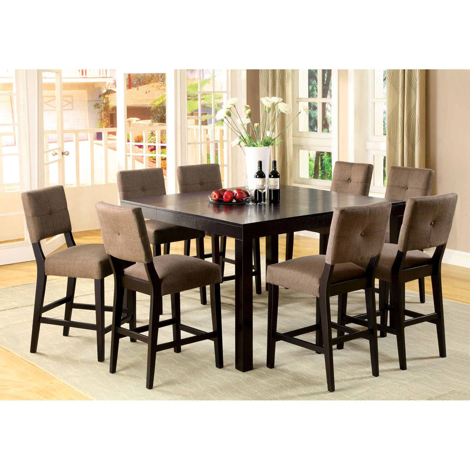 Furniture of America Jones 7 Piece Espresso Counter Height Dining Room Set by Enitial Lab