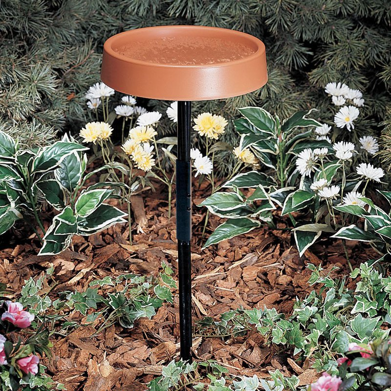 Allied Precision 12 in. Heated Birdbath with Metal Stand by Gold Crest Distributing LLC
