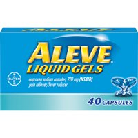 Aleve Liquid Gels w Naproxen Sodium, Pain Reliever/Fever Reducer, 220 mg, 40 Ct