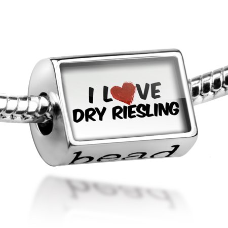 Bead I Love Dry Riesling Wine Charm Fits All European Bracelets