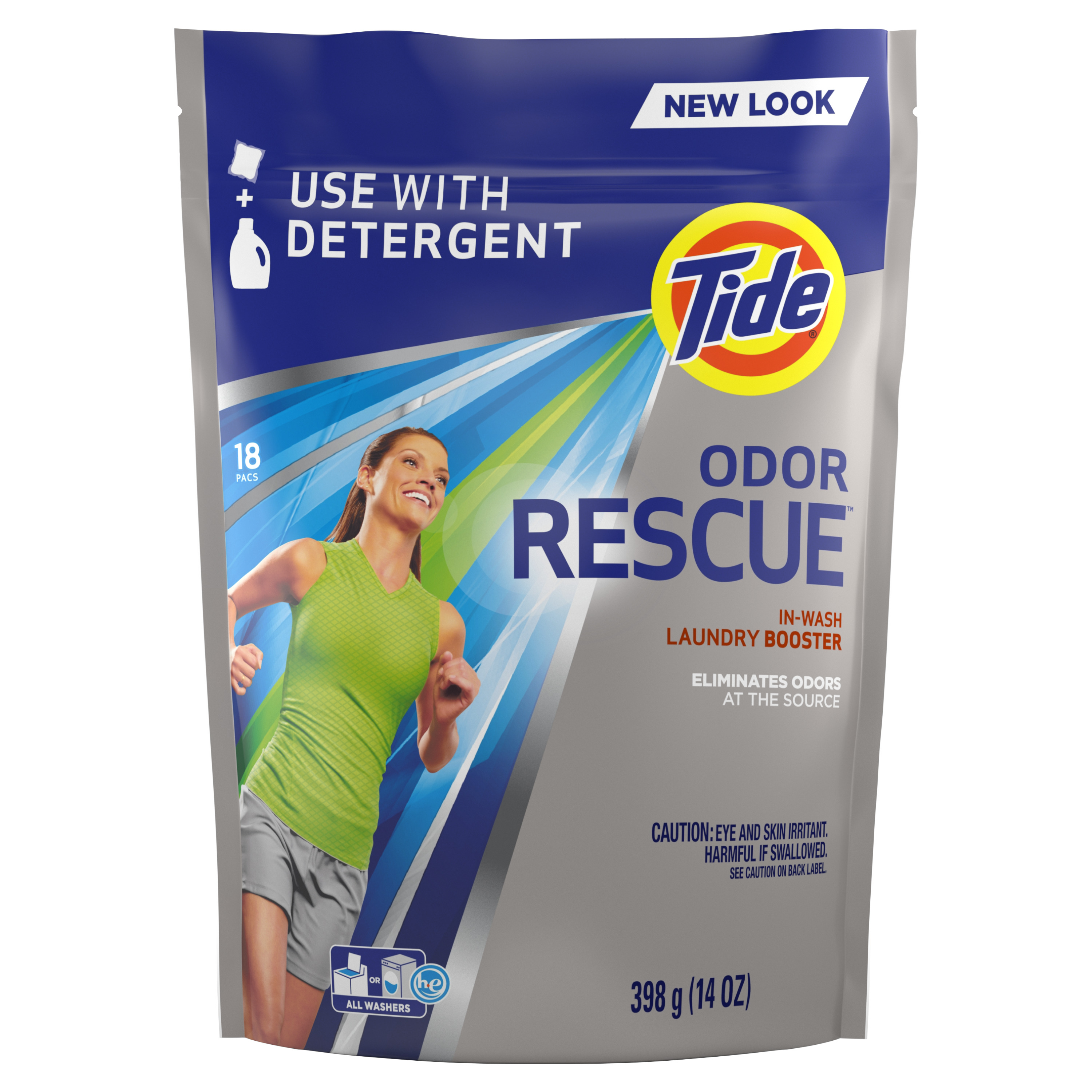 Tide Odor Rescue In-Wash Laundry Booster, 18 pacs