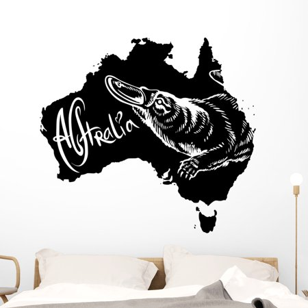 Platypus as Australian Symbol Wall Decal Wallmonkeys Peel and Stick An