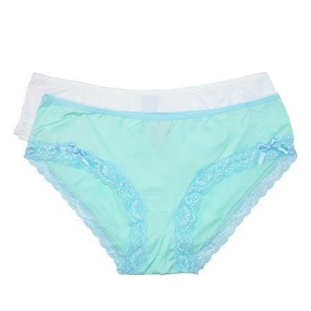 ca9333e1e682 Rene Rofe - Rene Rofe Women's Hipster Underwear with Lace Trim (Pack of 2)  - Walmart.com