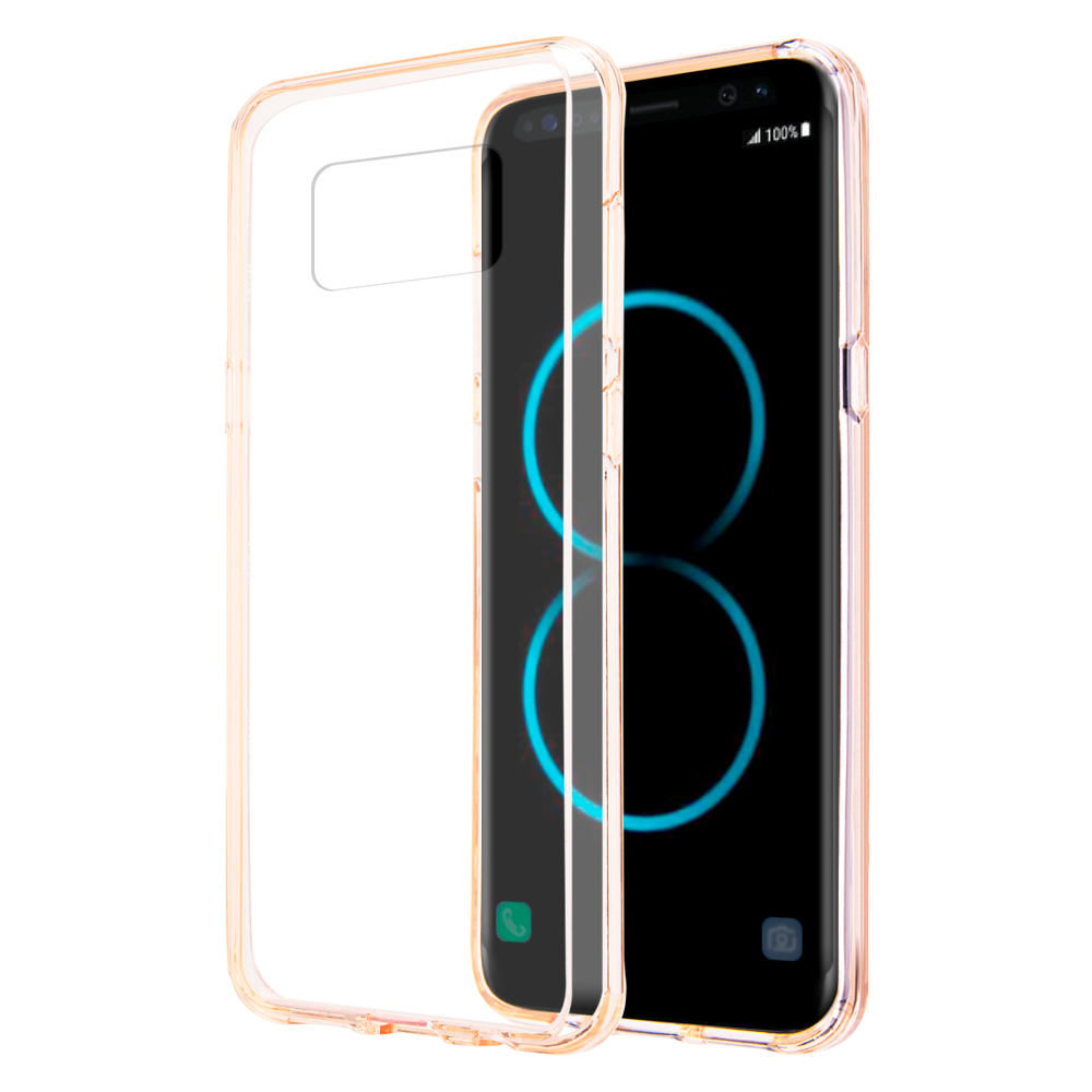 MUNDAZE Pink Candy Acrylic Clear Case For Samsung Galaxy S8 Plus Phone