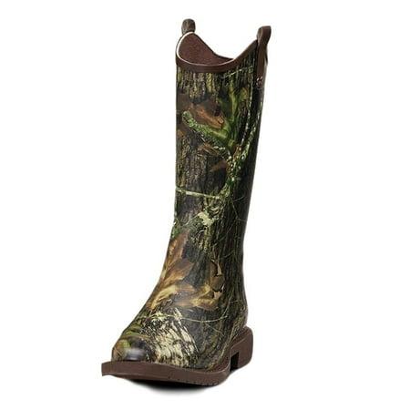 Double Barrel 58146-12 Mens Lance Square Toe Rain Boots, Camo - Size 12