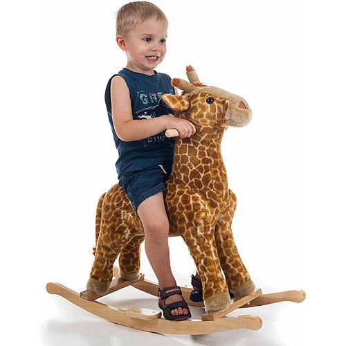 Happy Trails Plush Rocking Animal, Giraffe