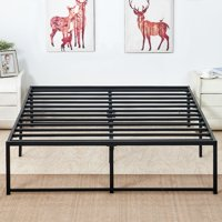 Metal Platform Bed Frame Full Size with Storage/No Headboard,Mattress Foundation no Need for Box Spring