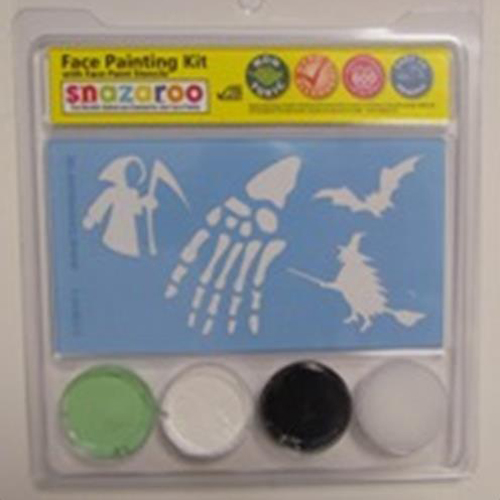 Snazaroo Halloween Stencil Kit - Ghoul & Witches 3 color