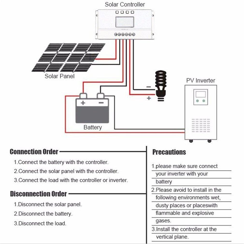Lcd Display 12v 24v Mppt Solar Panel Regulator Charge Controller 3 Circuit Buy Timer Collector Short Protection