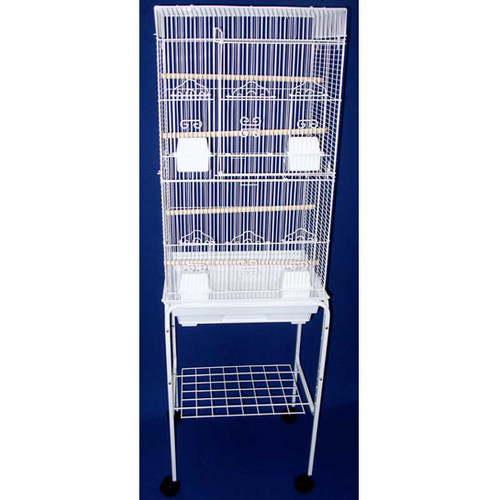 YML Tall Square Top Small Bird Cage with Stand