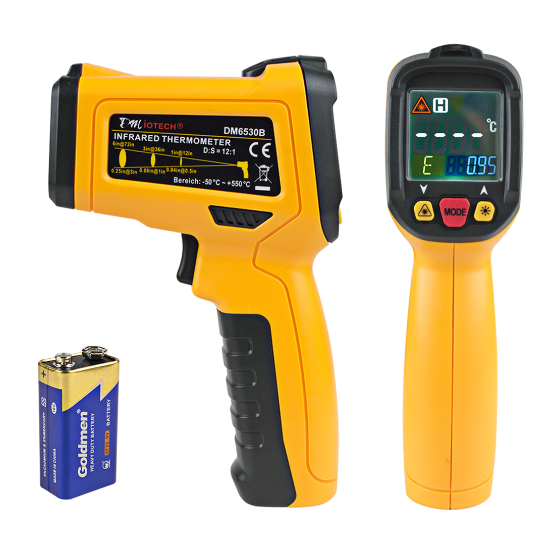 DMiotech DM6530B Non-contact Digital Laser Infrared Thermometer Gun Handheld