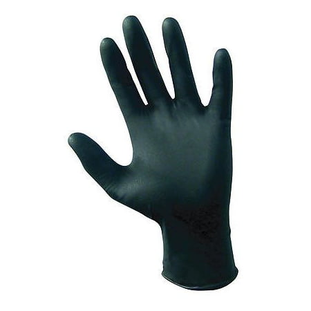 Baltimore Ravens Gloves - SAS Safety 66518 Raven 6 mil Black Nitrile Disposable Gloves - Large - 10 Pack(100 Gloves per Box)