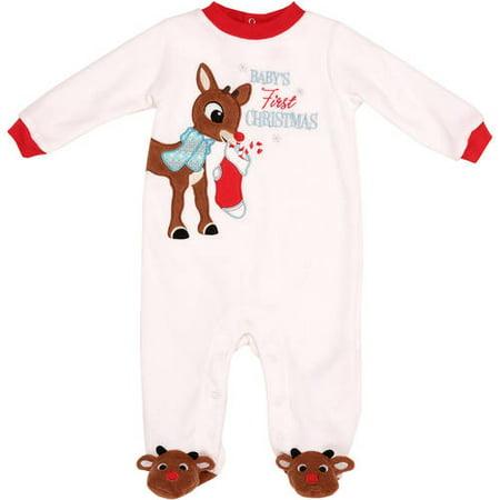 2715409215 Rudolph Newborn Baby Unisex First Christmas Sleep and Play - Walmart.com