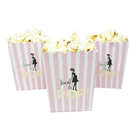 Soon To Pop Pink Baby Shower Popcorn Favor Box Set Of 20 Walmart