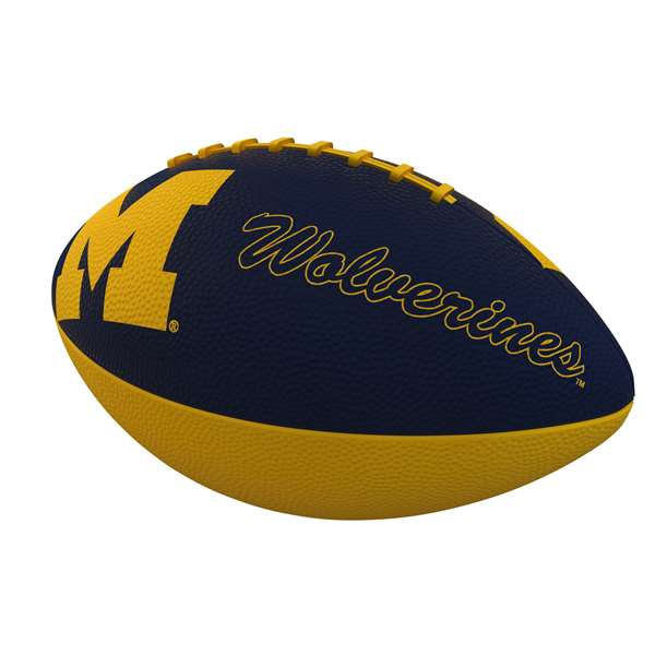 Michigan Combo Logo Junior-Size Rubber Football