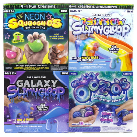 Horizon Group 4 in 1 Fun & Slimy Creations Kit, 1 Each (Slimy Foods For Halloween)