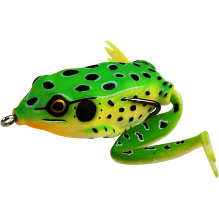 Lunkerhunt™ Lunker Frog Leopard Fishing Lure Carded Pack
