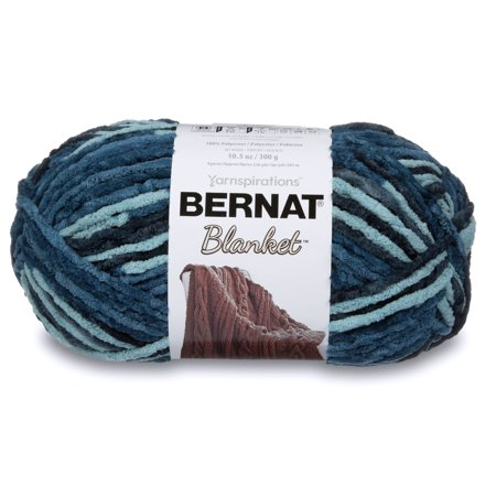 Aran Weight Yarn (Bernat Blanket Yarn, 300g, Teal)