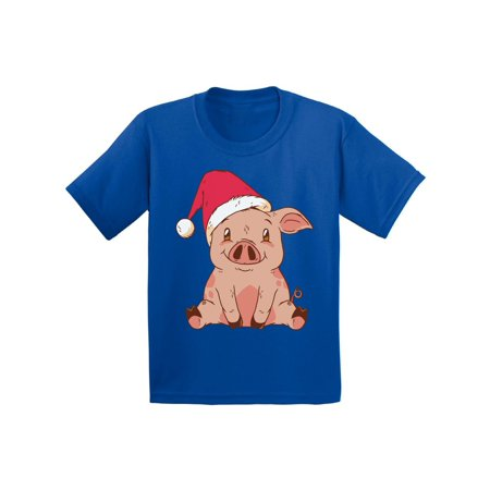 Awkward Styles Ugly Christmas T-Shirt for Boys Girls Little Xmas Pig Kids T Shirts